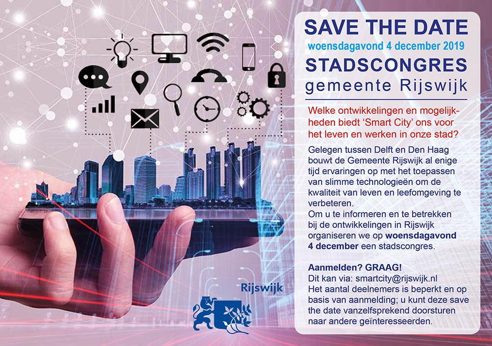 Save the date: Smart City stadscongres